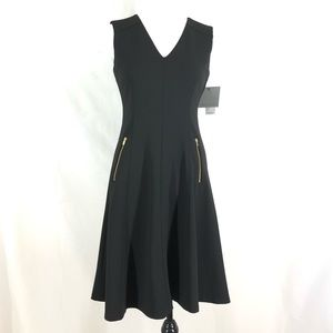 Marc New York Andrew Marc Fit & Flare Dress 4 Blk